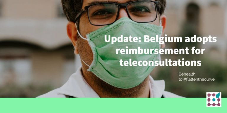Belgium adopts COVID19-reimbursement for teleconsultations by all kinds of health professionals now